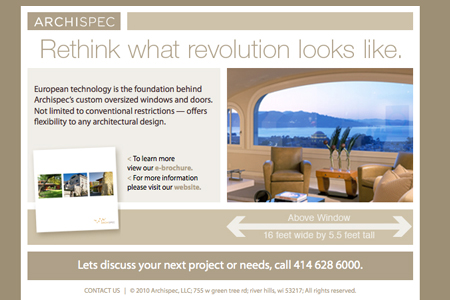 archispec e-newsletter march 2010