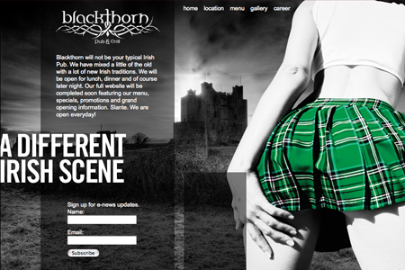 blackthorn pub and grill website