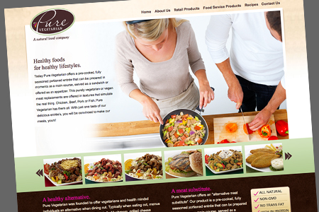 pure vegetarian website