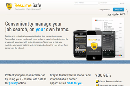 resume safe web app